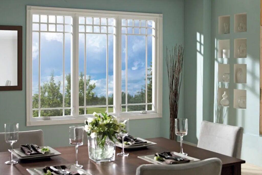 Mẫu cửa sổ 3 cánh đang ngày càng trở nên phổ biến. (Ảnh sưu tầm)