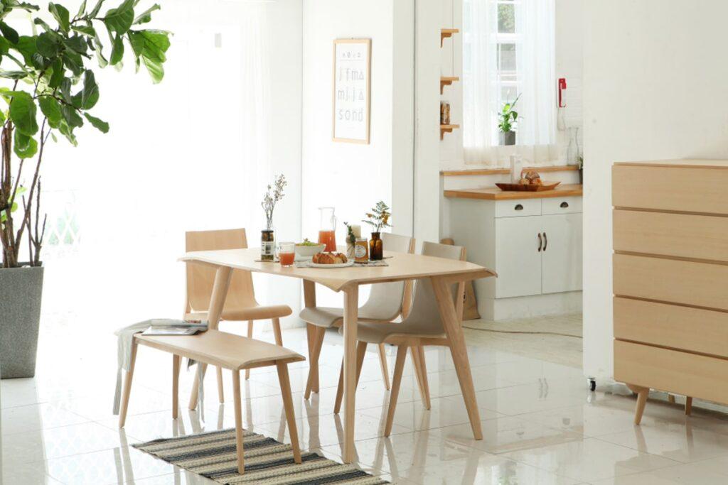 Nội thất bằng gỗ được yêu thích trong phong cách thiết kế Hàn Quốc. (Ảnh sưu tầm)