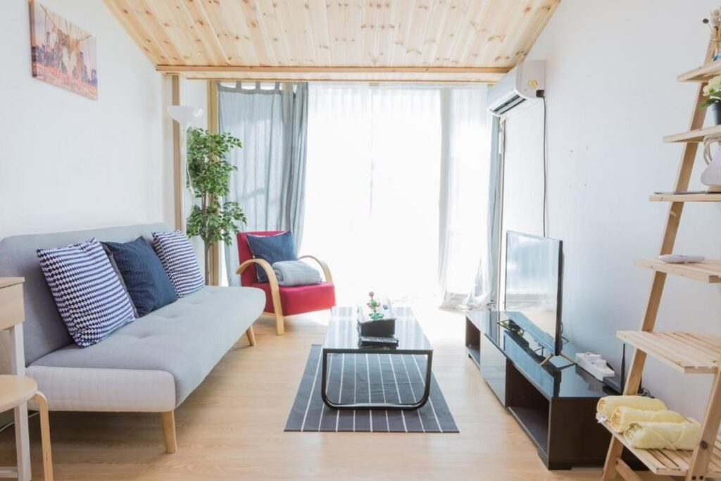 Gỗ được sử dụng trong các căn hộ theo phong cách Hàn Quốc. (Ảnh sưu tầm)